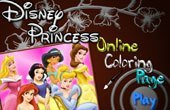 Disney Princess Online Coloring Game