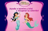 Princess Ariel And Princess Jasmine Coloring Game