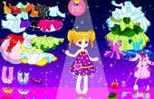 Colorful Cartoon Princess Dress Up Game