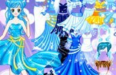 Blue Princess Dress Up Game